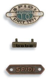 accessori per abbigliamento etichette in metallo