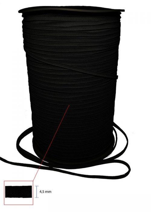 elastico nero 4,5 mm